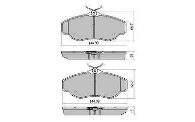 FULL SET RDA EXTREME HEAVY DUTY BRAKE PADS for LANDROVER DISCOVERY II 1999-2004