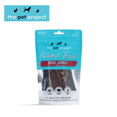 The Pet Project Natural Treats Beef Jerky 100g