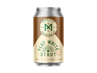 Mismatch Flat White Stout Can 375mL 4 Pack