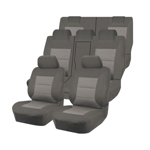 Premium Car Seat Covers For Mitsubishi Outlander Zj-Zk-Zl Series 2012-2020 4X4 Suv/Wagon 7-Seater | Grey