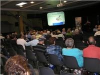 Seminars were popular at Caulfield supershow. Hayman Reese helps showgoers