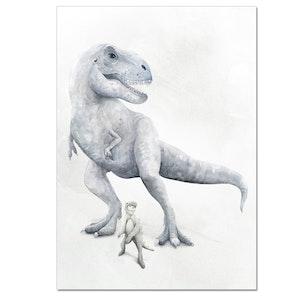 Trex Dinosaur Print - A3