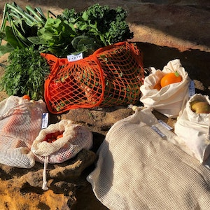 Us and the Earth Market Day Shopping Bundle | 6 Produce Bags | Mesh Shopping Tote