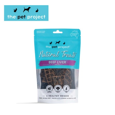 The Pet Project Natural Treats Beef Liver 100g