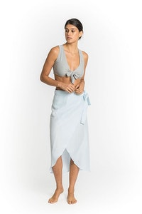Lilly Side Tie Pareo in Sky Blue