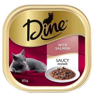 Dine Cat Food Saucy Morsels with Salmon 14 x 85g