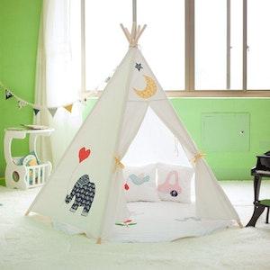 All 4 Kids Large Cotton Canvas Kids Elephant Pentagon Teepee Tent