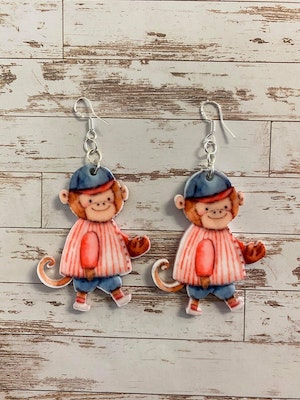 Totally Inspired Creations Just Monkeying Around Earrings