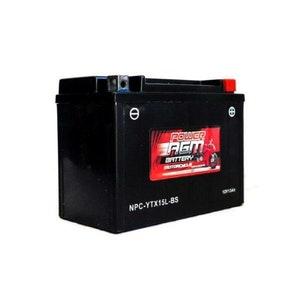 Power AGM 12V 13AH 335CCAs Motorcycle Battery