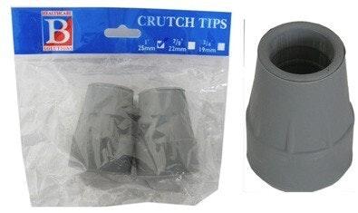"Bemed Crutch Tips Grey 1""25mm"