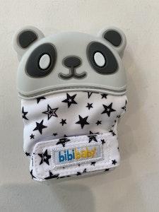 BibiLand BibiMitt Panda Teething Mitts - Grey