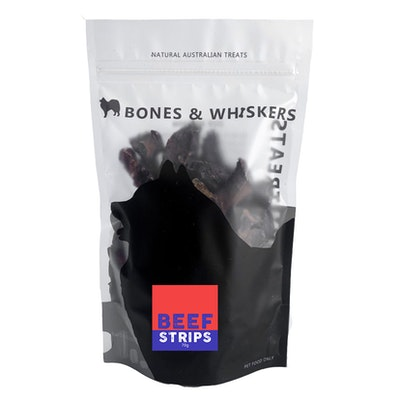 Bones & Whiskers Beef Strips 80g