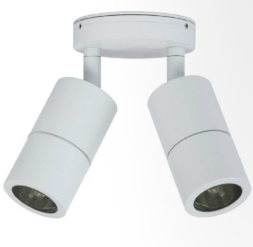 Wall Light Double Spotlight : White Adjustable Double Spotlight Outdoor Wall Lights for sale in Moorabbin