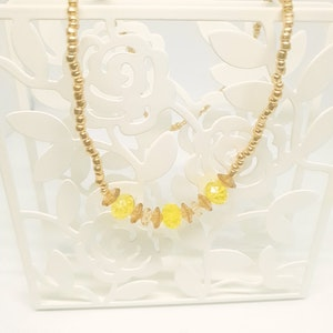Rayhana's Store Sydney handmade beaded necklace yellow