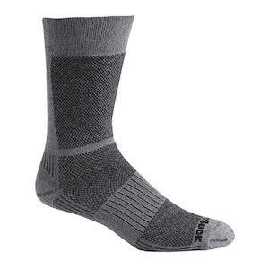 Wrightsock Blister-free Eco Lite Hike - Crew Socks - Black/White