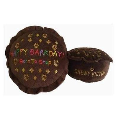 Dog Diggin Designs Happy Barkday Cake Dog Toy
