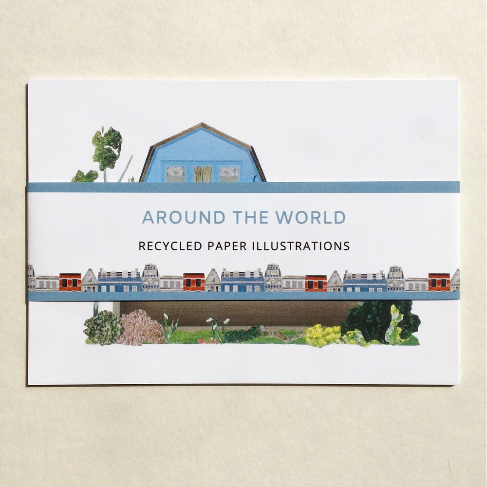 Soodle Street Illustrations Around The World Postcard Set