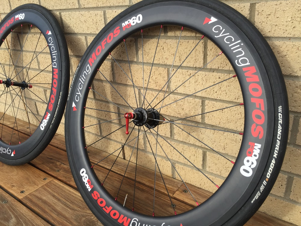MoFo Cycling Wheelset BikeExchange with tyres
