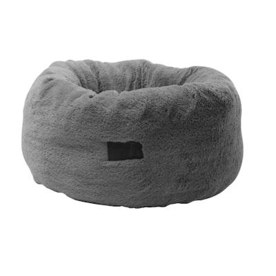 La Doggie Vita Grey Plush Donut