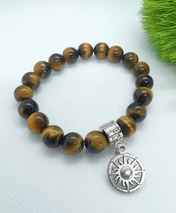 LinqGlo Collections Tiger Eyes Crystal Bracelet