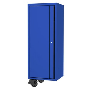 """Side Cabinet 3 Fixed Shelves Clothes Hand Rail 27"""" USA Sumo Series BLUE/BLACK SP44885BL"""