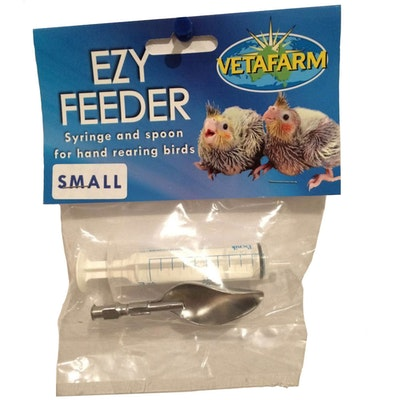 Vetafarm Stainless Ezy Measured Feeder with Syringe & Spoon for Birds Small