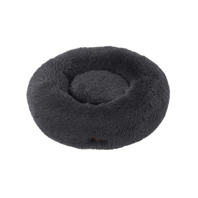 Charlie's Faux Fur Fuffy Calming Pet Bed Nest - Charcoal