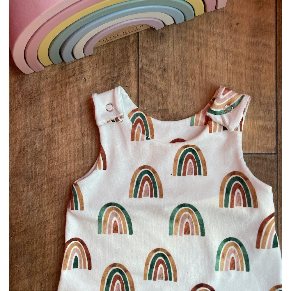 The Baby Man Store Rainbow Print Romper