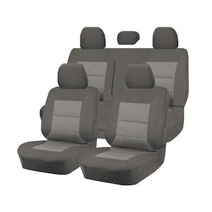 Premium Car Seat Covers For Mitsubishi Triton Ml-Mn Series 2006-2015 Dual Cab | Grey