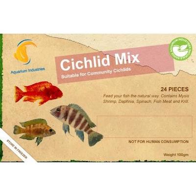 Aquarium Industries AI Nat Cichlid Mix - Frozen 100gm Blist