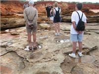 GoSeeAustralia follows the steps of dinosaurs Broome WA