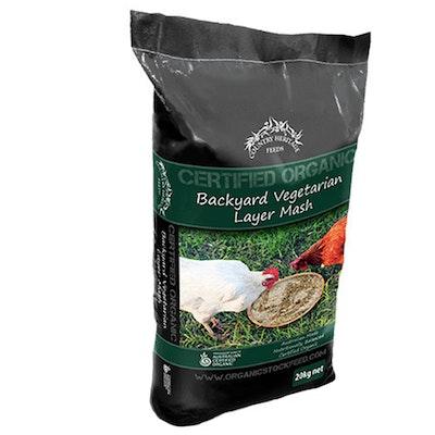 Country Heritage Organic Backyard Layer Vegetarian Mash Feed 20kg