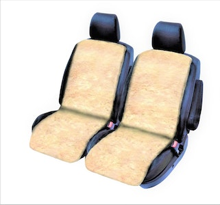 Sheepskin Seat Covers 20Mm (Pair) Airbag Safe | Ivory
