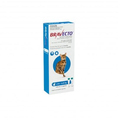BRAVECTO Spot On 2.8-6.25kg Cat 6 Month Pack