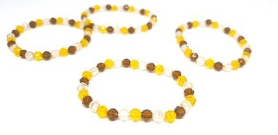 Rayhana's Store Sydney beaded bracelets x2 yellow/brown