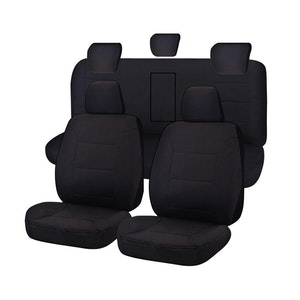 Challenger Car Seat Covers For Isuzu D-Max Dual Cab 2012-2020 | Black