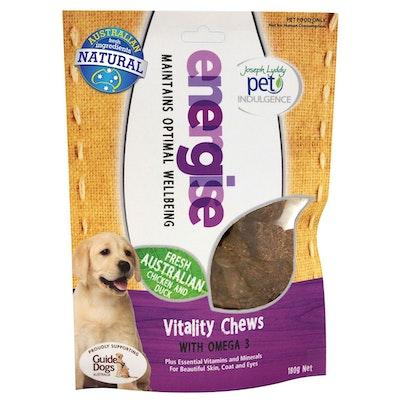 Joseph Lyddy Energise Vitality Chew Dog Treats 180g