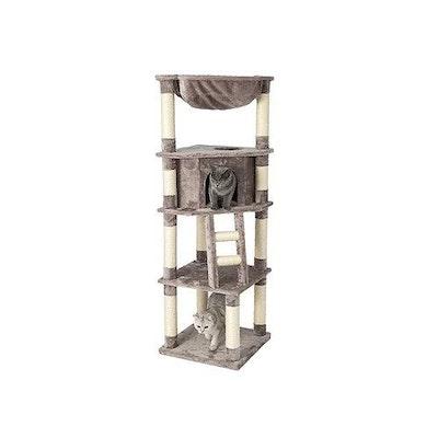 Honeypot CAT® Chipboard Flannel Cat Tree 158cm