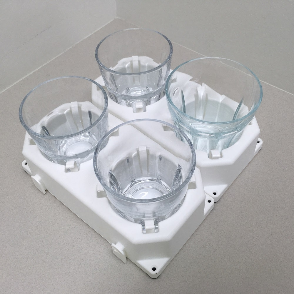 Froli Glass Holder 2 Piece Set With Plug In System Rv