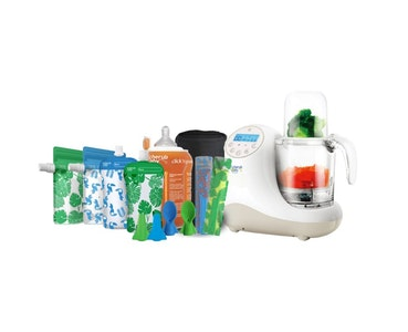 Food Feeding System | Steamer Blender, Reusable Food Pouches, Click n Go Warmer