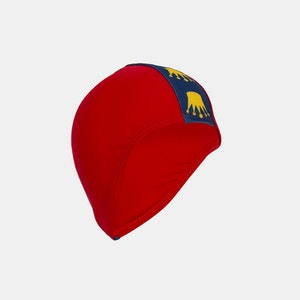 Junior Child Swim Cap - Red Crown Print