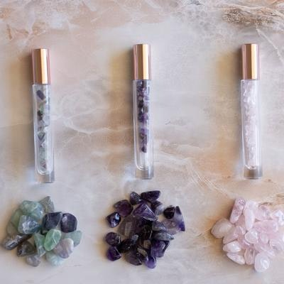 Us and The Earth Essential Oil Crystal Gemstone Roller Bottle   10ml (Longer)