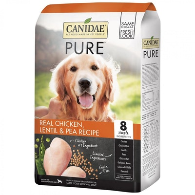 Canidae Adult Pure Dry Dog Food Real Chicken Lentil & Pea - 3 Sizes