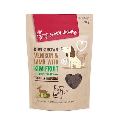 Yours Droolly Kiwi Grown Venison, Lamb & Kiwifruit Dog Treats