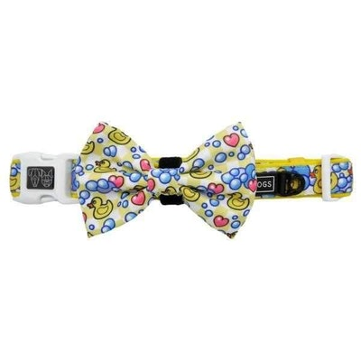 Big & Little Dogs Rubber Ducky Collar & Bow Tie