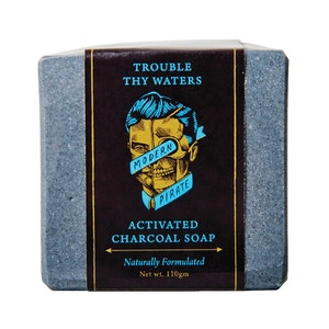 Modern Pirate Trouble Thy Waters Activated Charcoal Soap (110g)