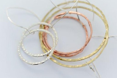 Sarah Munnings Jewellery Hoop Earrings available in Copper, Brass or Silver