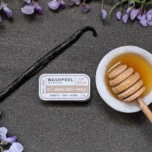 Manuka Honey · Vanilla Lip Balm Tin [LX1]