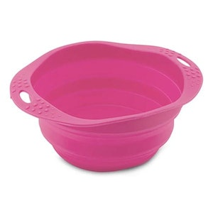 Beco Pets Travel Bowls are BPA free using silicone - Pink