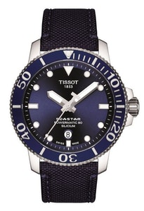 Tissot Seastar 1000 Powermatic 80 Silicium - Blue with Fabric Strap